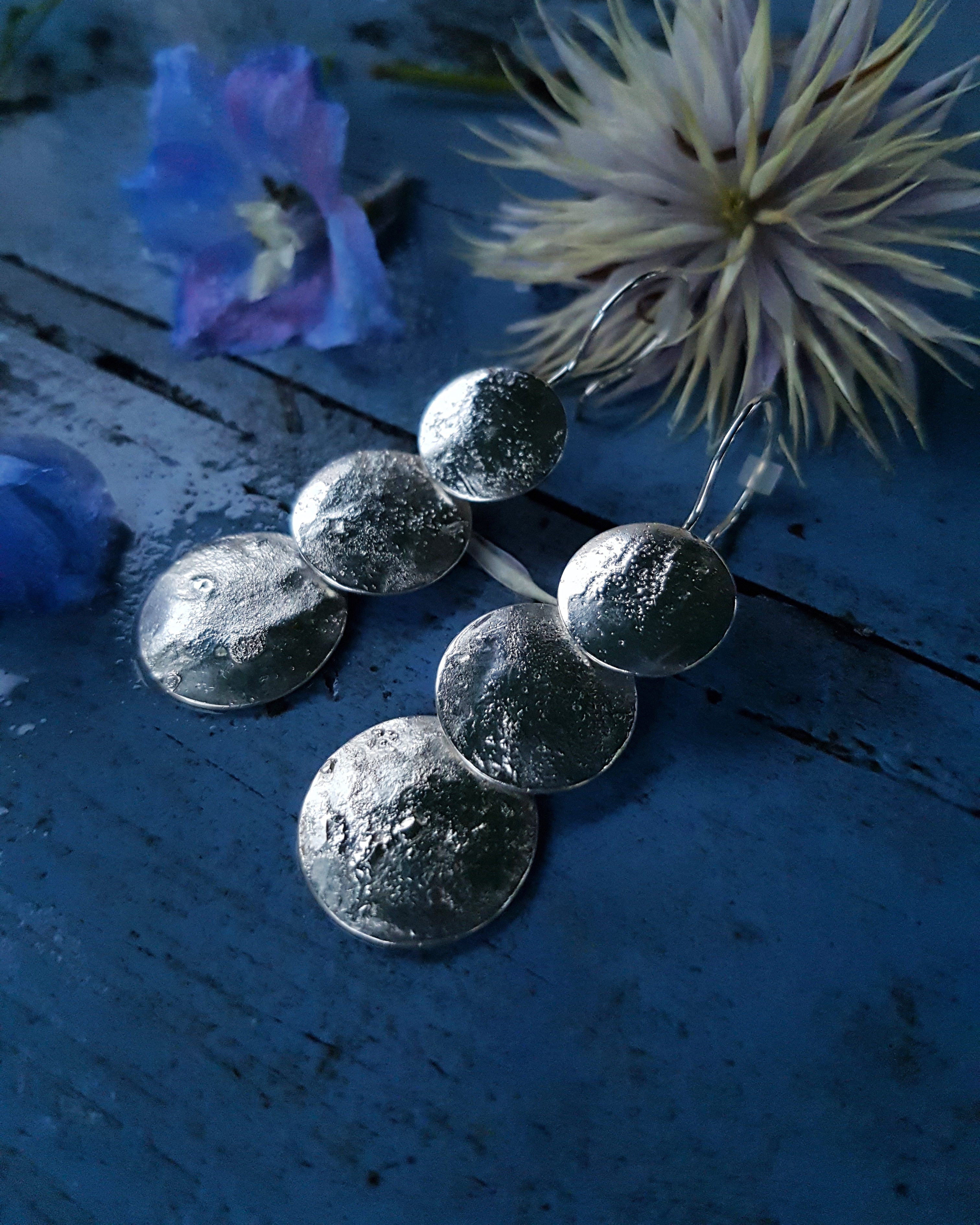 Honneur-feminin-Pleine-lune-Boucles-d-oreilles-Argent-925-2